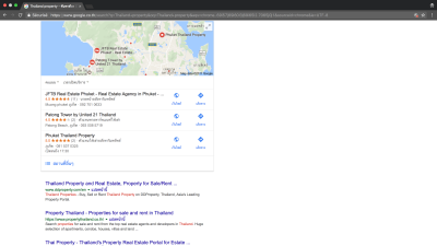 Photo JFTB Phuket Real Estate on the Top positions on Google Search Engine