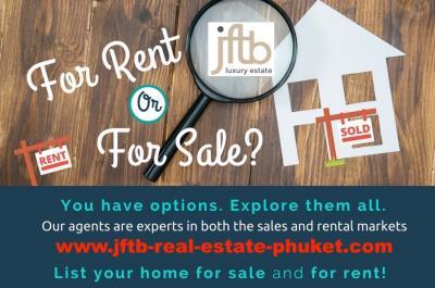 ลงประกาศอสังหาริมทรัพย์ของคุณสำหรับเช่าหรือขายกับ JFTB Real Estate Phuket
