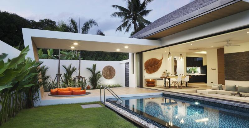 Picture 2 & 3 Bedrooms Luxury Pool Villas for sale in Nai Thon, Phuket.