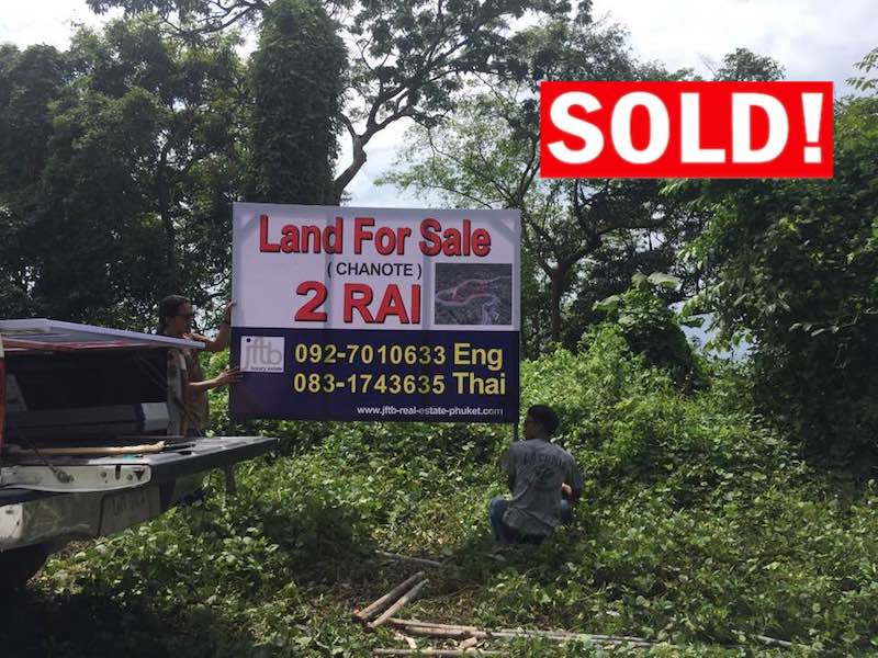 Picture Phuket-Sea View land for sale on Kamala Millionaires Row
