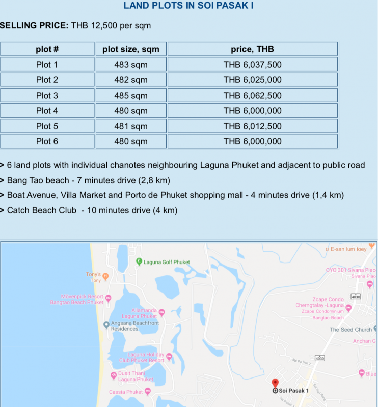Photo 6 terrains à vendre à Cherngtalay, Phuket