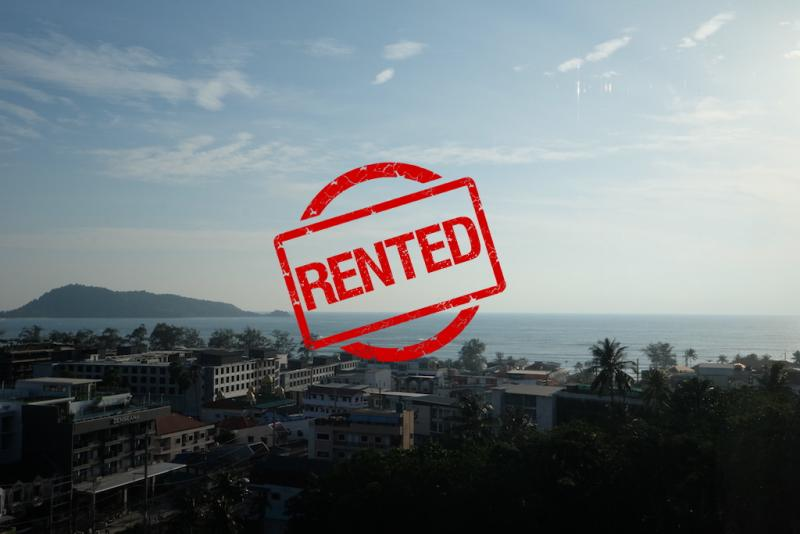 Picture Brand new 1 bedroom condo with Panoramic sea view for rent in Patong Beach