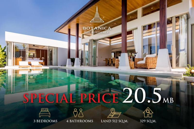 Picture 18% Off: Brand new luxury pool villa for sale in Layan, Phuket west coast