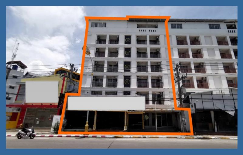 Picture Building with 46 rooms and shops for sale in Patong