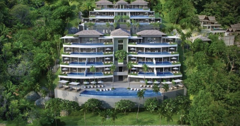 Photo Appartement haut de gamme neuf avec 2 chambres et vue mer à vendre à Surin Beach