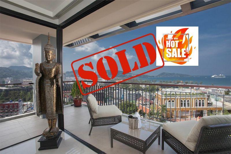 Photo Appartement de 3 chambres et terrace avec vue panoramique Mer à vendre à Patong Beach