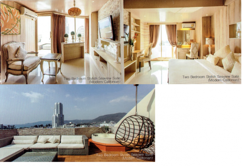 Photo Appartement de luxe avec vue sur la mer et 2 chambres à vendre à proximité de la plage de Patong avec services hôteliers