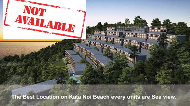 Picture Luxury Sea View Studio Apartment for Sale at The Peaks Residence in Kata