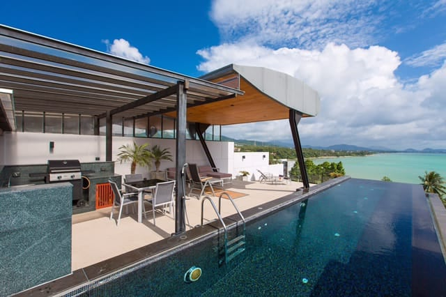 รูปภาพ Modern Seaview Pool Villa 3 ห้องนอนสำหรับเช่าหรือขายในราไวย์