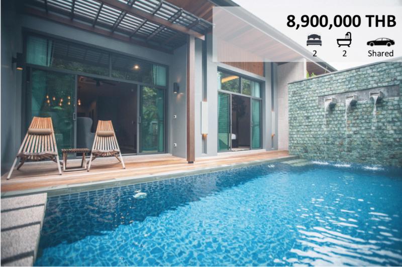 Photo Villa moderne avec 2 chambres et piscine privée à vendre à Rawai Phuket