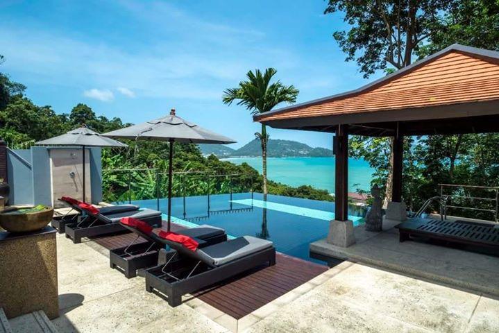 Photo Patong-Villa de 4 chambres avec vue sur la mer et piscine pour locations de vacances à Kalim