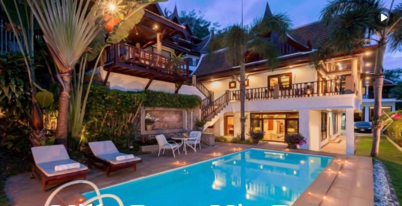 Picture luxury pool villa for sale in Patong with Sea View and Chanote