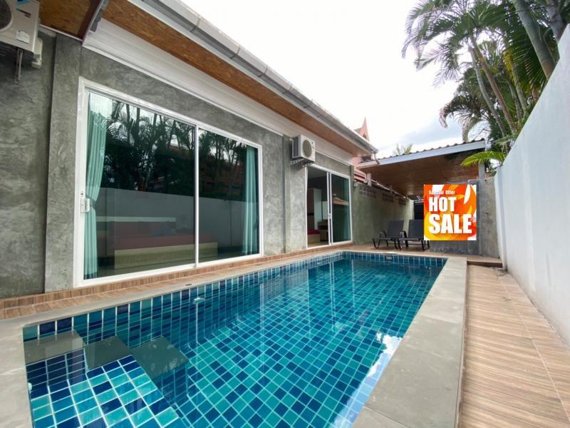 Picture Only 4,2 MTHB! Phuket 3 Bedroom Modern Pool Villa for Sale in Nai Harn, Rawai