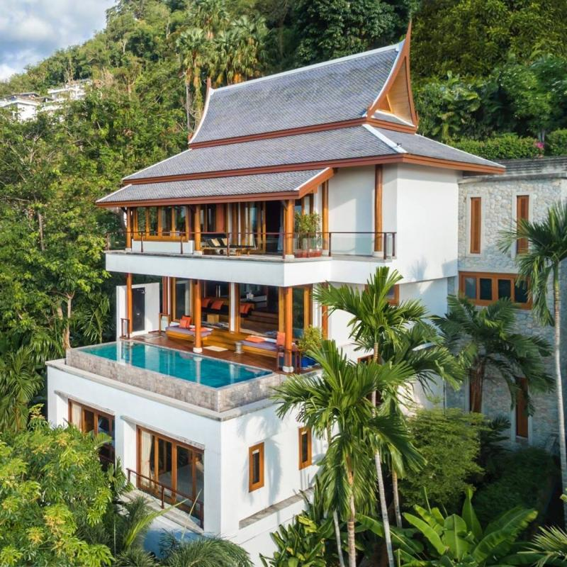 Picture Phuket Exclusive Sea View villa for sale on Surin's hills