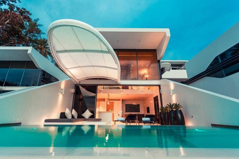 Photo Villa en bord de mer avec piscine, 1 chambre à coucher à vendre à Kata Rocks, Phuket