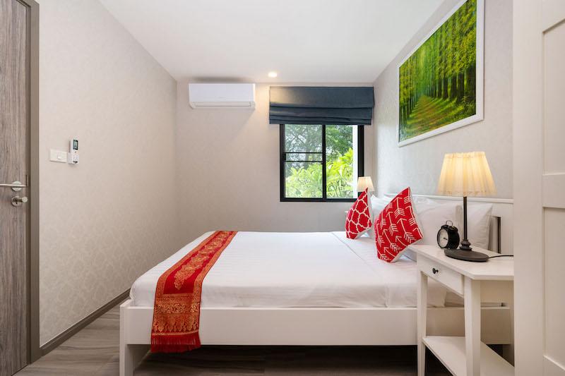 Photo Condo de 2 chambres avec vue sur la piscine à vendre à The Title Residencies Naiyang Beach Phuket.