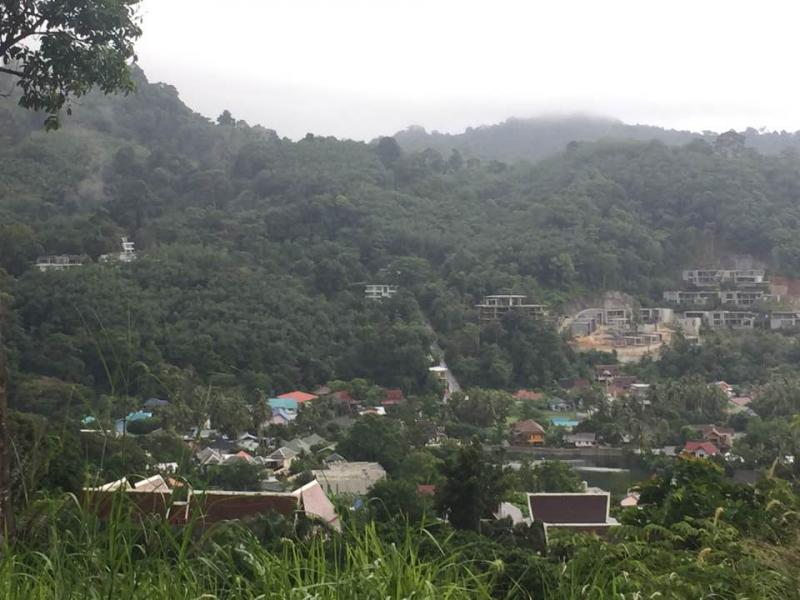 Photo Phuket-Beautiful land in Kamala for sale with Sea and Mountain Views